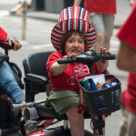 Tekki leads the TTT Team at the 2015 Disability Pride Parade.